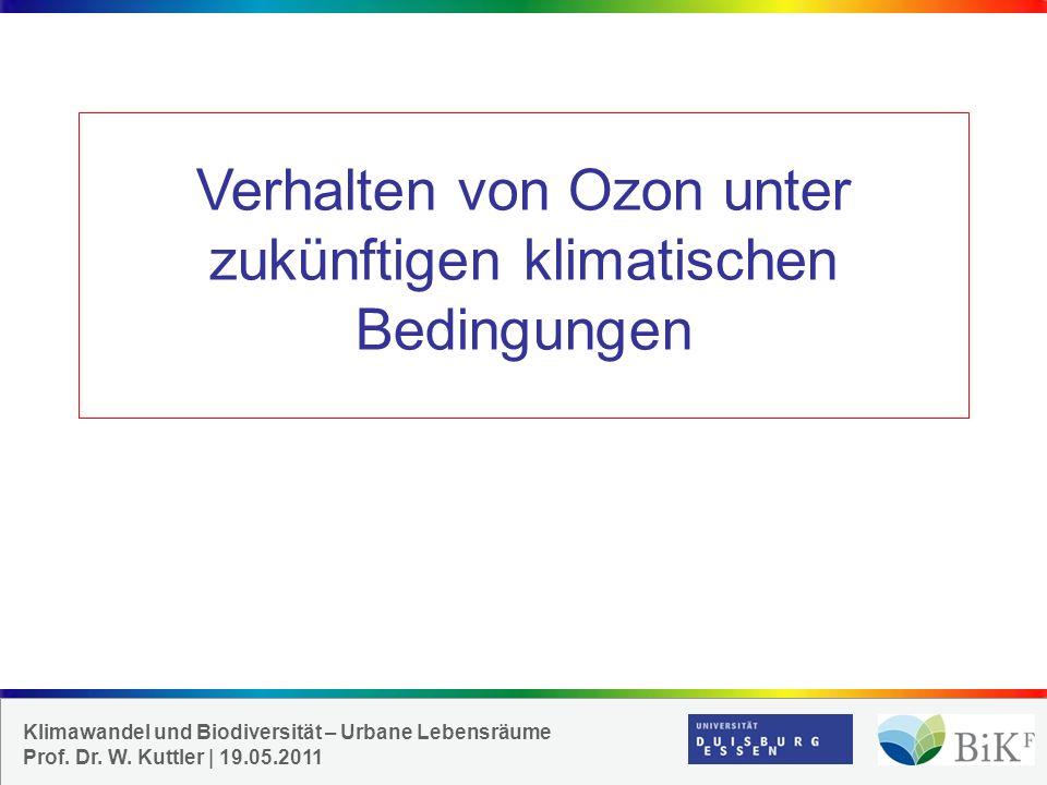 Verhalten von Ozon unter zukünftigen klimatischen Bedingungen