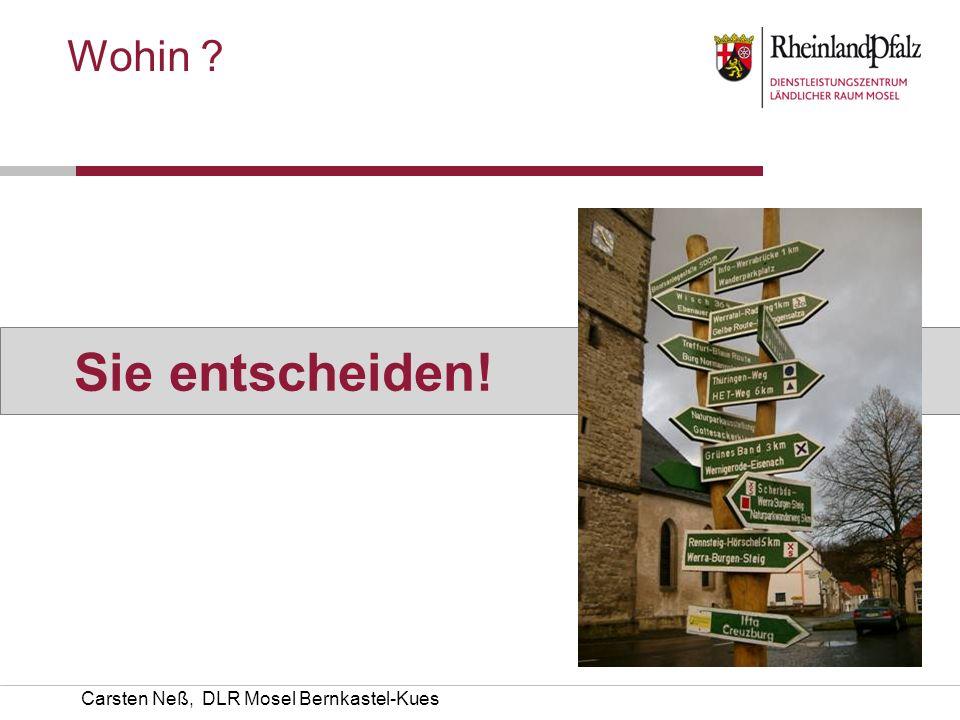 Wohin Sie entscheiden! Carsten Neß, DLR Mosel Bernkastel-Kues