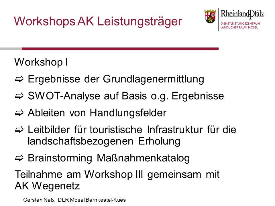 Workshops AK Leistungsträger