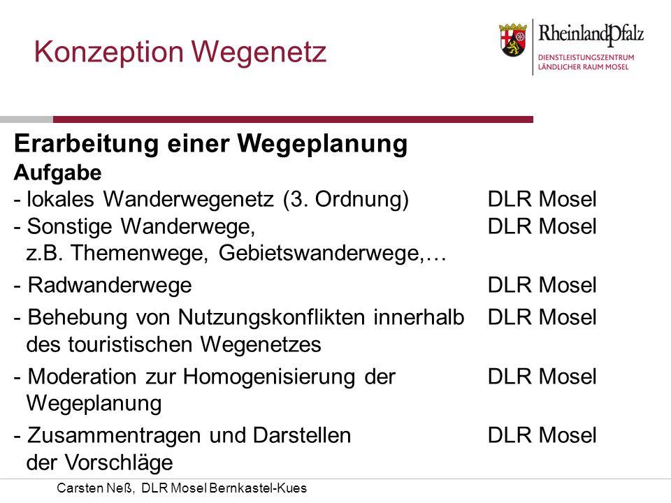 Konzeption Wegenetz Erarbeitung einer Wegeplanung Aufgabe Kümmerer
