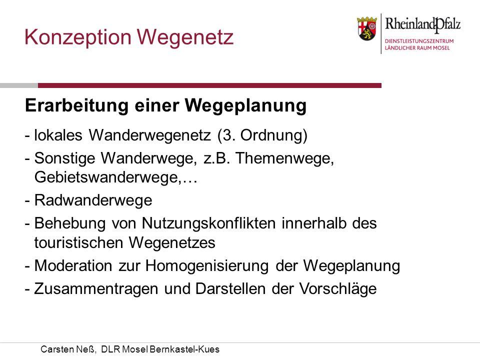 Konzeption Wegenetz Erarbeitung einer Wegeplanung