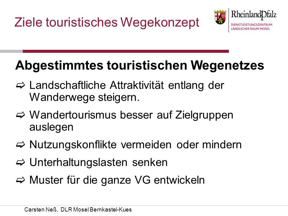 Ziele touristisches Wegekonzept