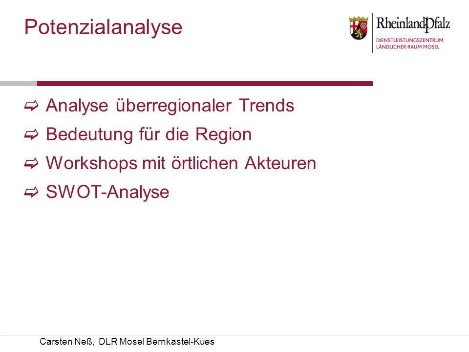 Potenzialanalyse Analyse überregionaler Trends