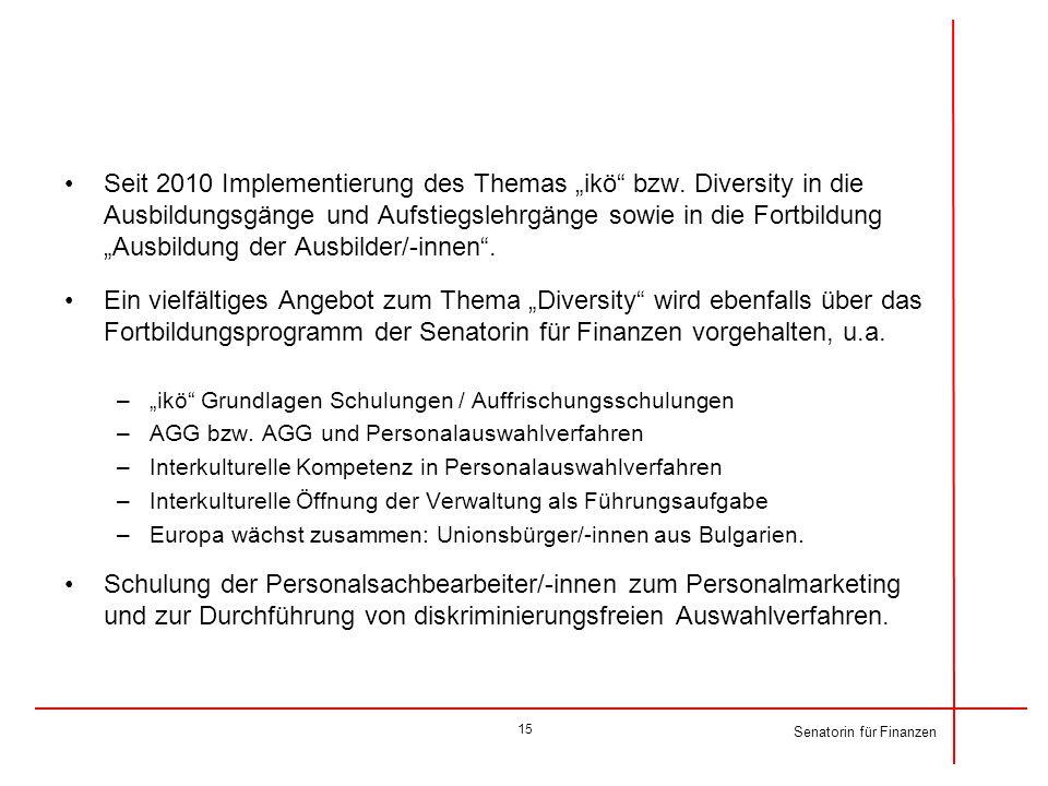 """Seit 2010 Implementierung des Themas """"ikö bzw"""