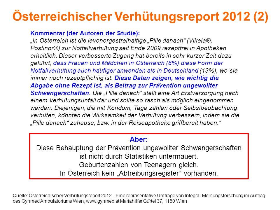 Österreichischer Verhütungsreport 2012 (2)