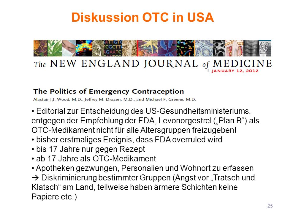 28/03/2017Diskussion OTC in USA.
