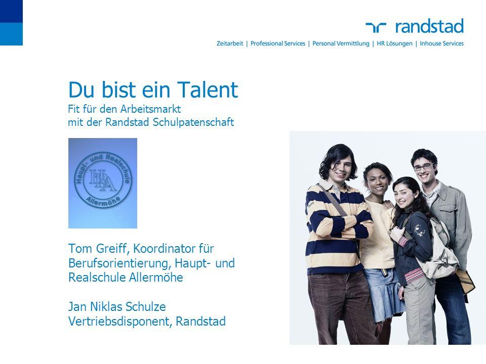 Du bist ein Talent Fit für den Arbeitsmarkt mit der Randstad Schulpatenschaft