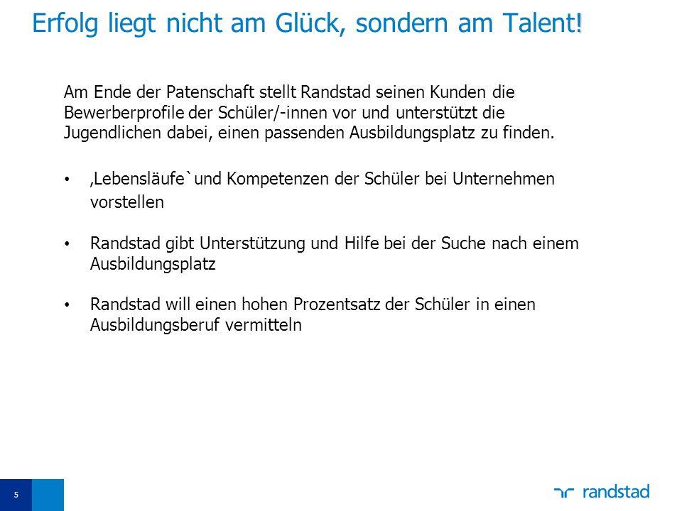 Erfolg liegt nicht am Glück, sondern am Talent!