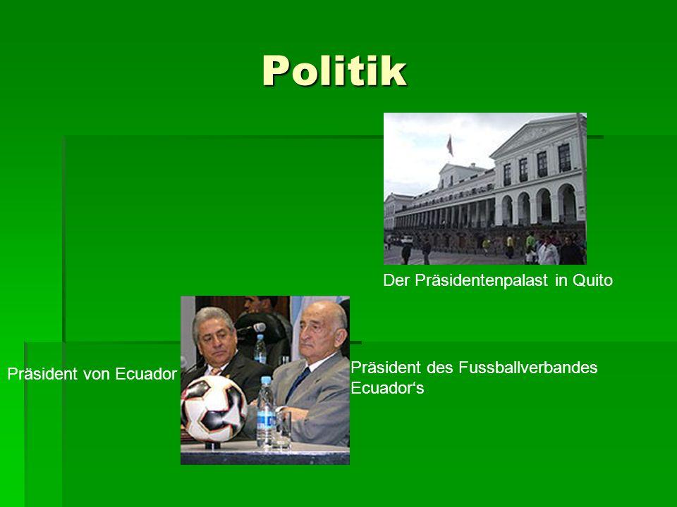 Politik Der Präsidentenpalast in Quito