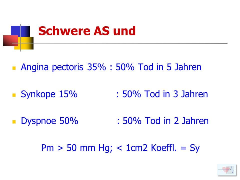 Pm > 50 mm Hg; < 1cm2 Koeffl. = Sy
