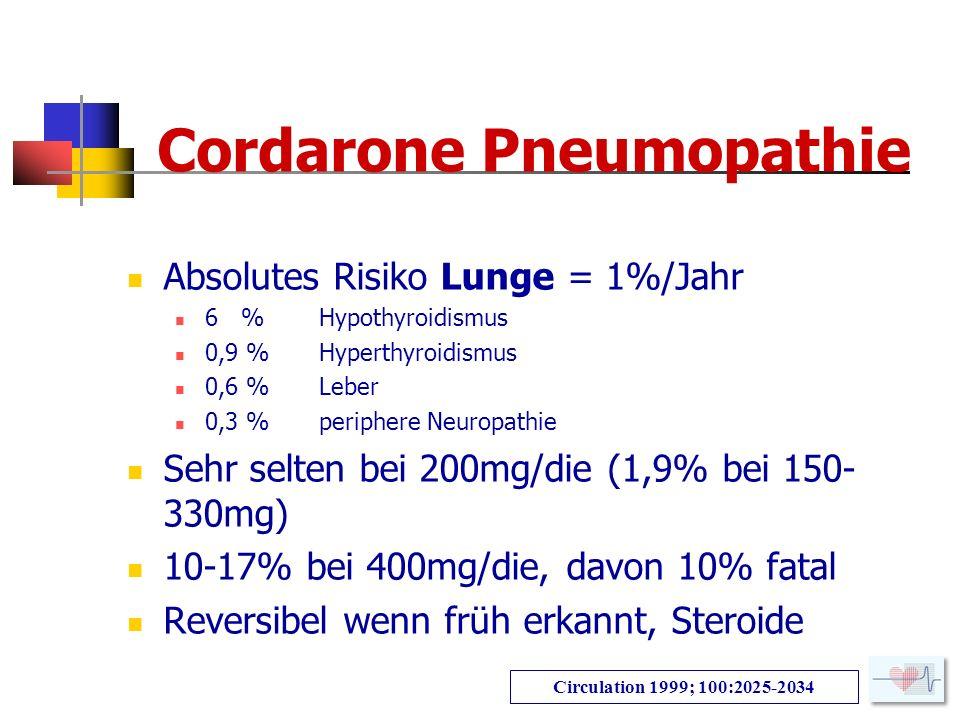 Cordarone Pneumopathie