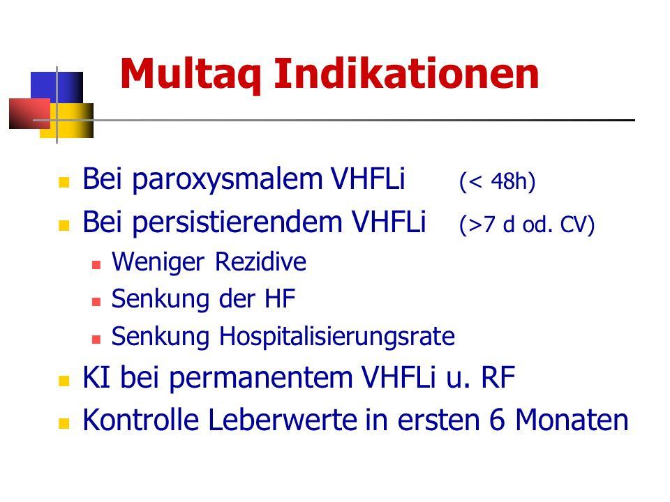 Multaq Indikationen Bei paroxysmalem VHFLi (< 48h)