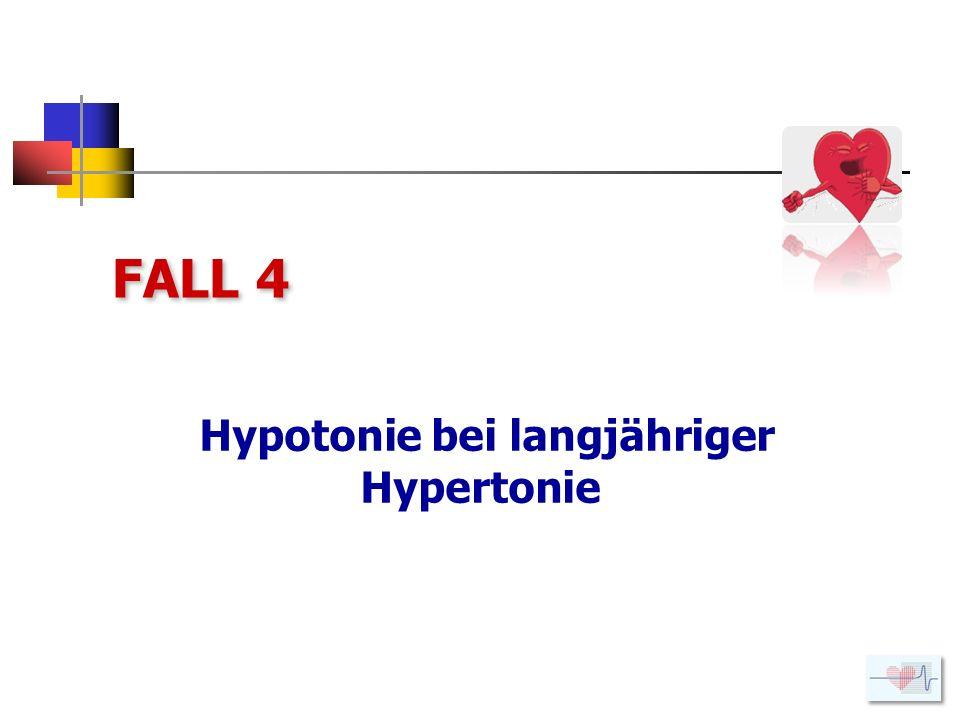 Hypotonie bei langjähriger Hypertonie