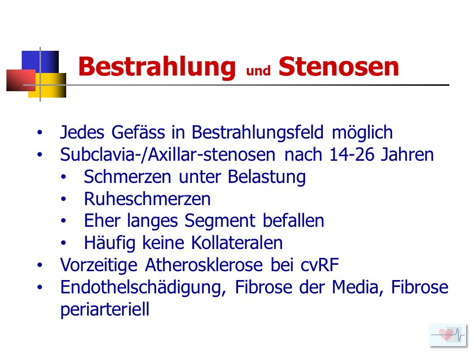 Bestrahlung und Stenosen