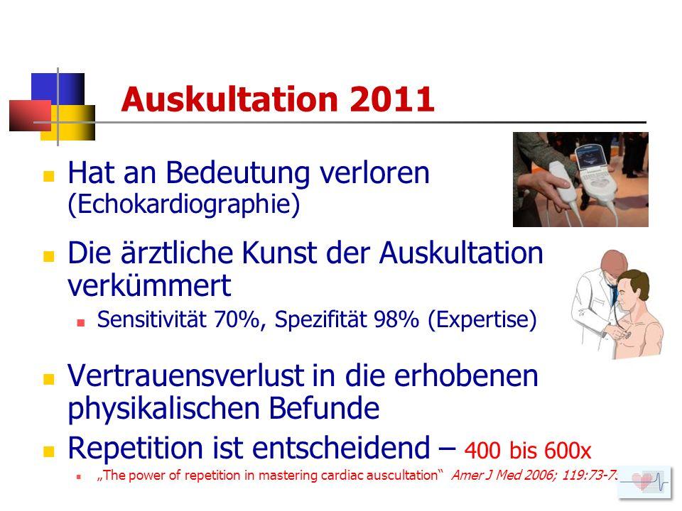 Auskultation 2011 Hat an Bedeutung verloren (Echokardiographie)