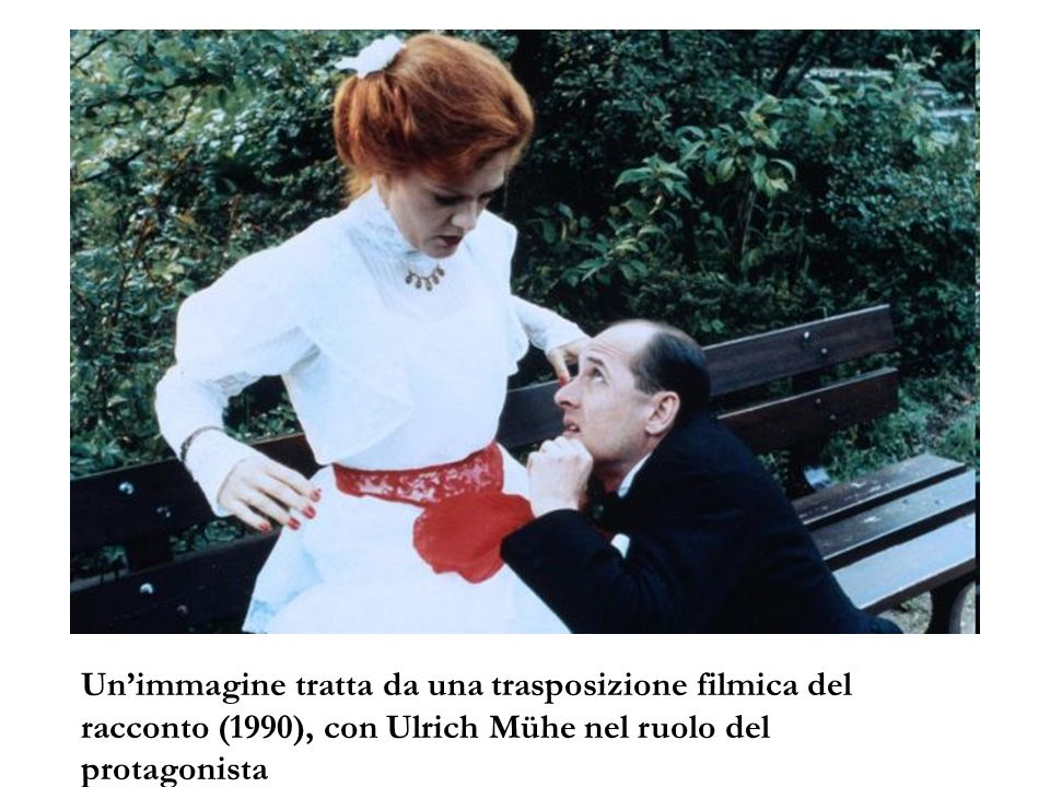 Un'immagine tratta da una trasposizione filmica del racconto (1990), con Ulrich Mühe nel ruolo del protagonista