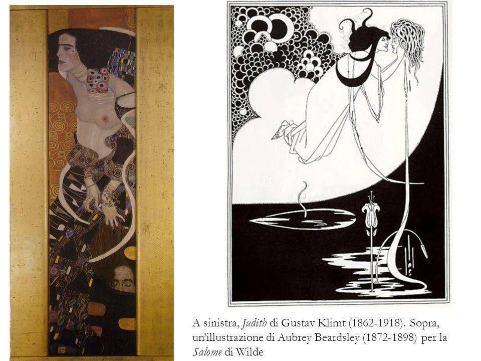 A sinistra, Judith di Gustav Klimt (1862-1918)