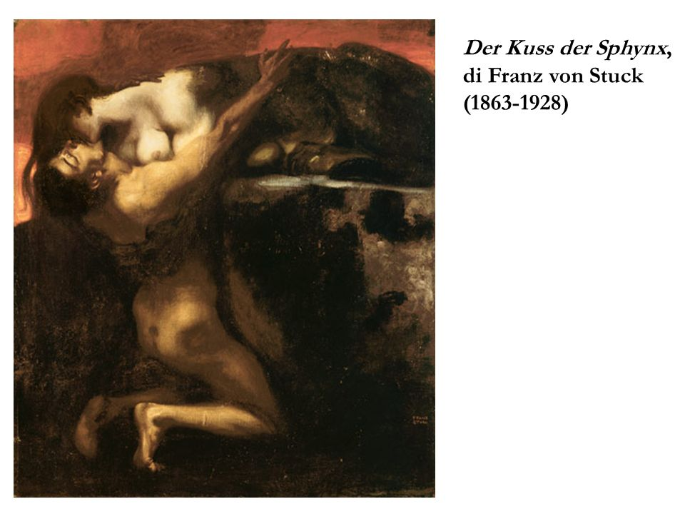 Der Kuss der Sphynx, di Franz von Stuck (1863-1928)