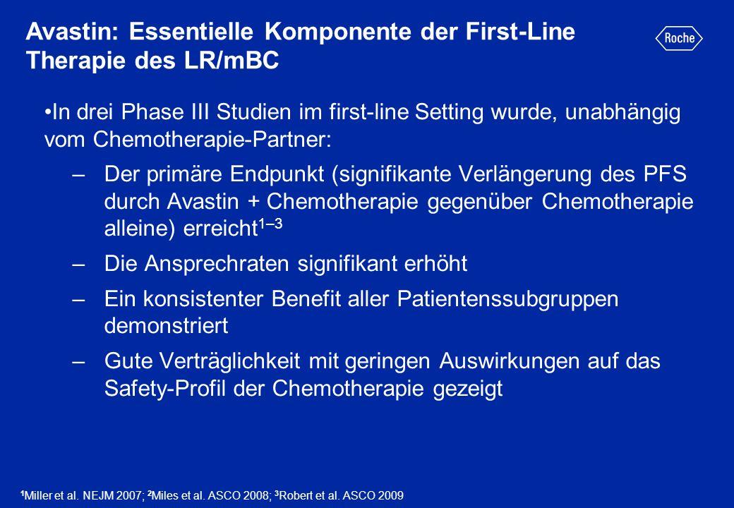 Avastin: Essentielle Komponente der First-Line Therapie des LR/mBC