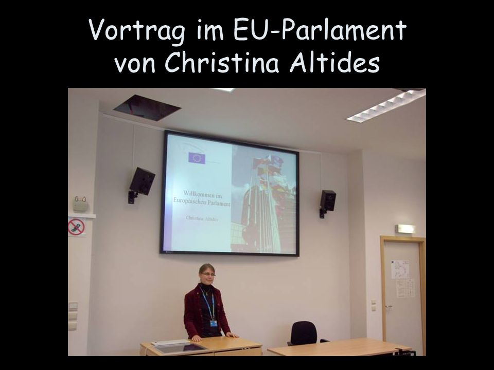 Vortrag im EU-Parlament von Christina Altides