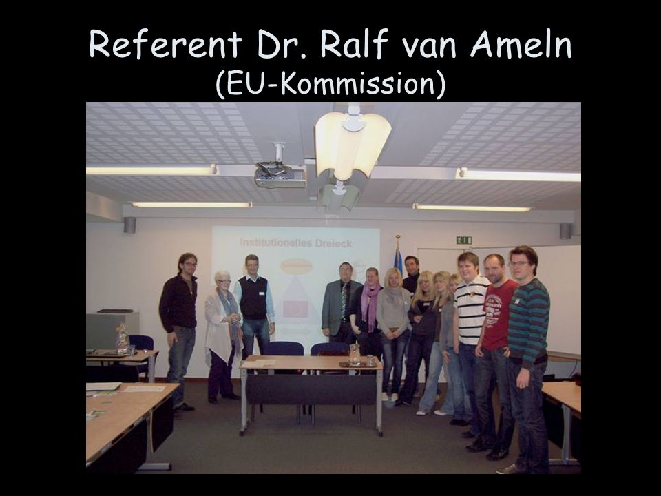 Referent Dr. Ralf van Ameln (EU-Kommission)