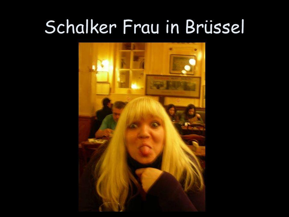 Schalker Frau in Brüssel