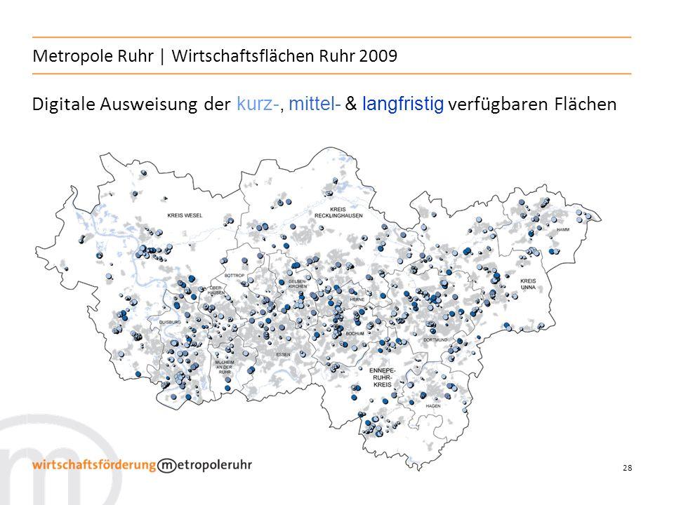 Metropole Ruhr | Wirtschaftsflächen Ruhr 2009