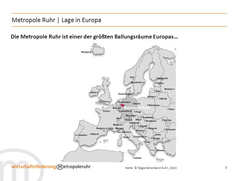Metropole Ruhr | Lage in Europa