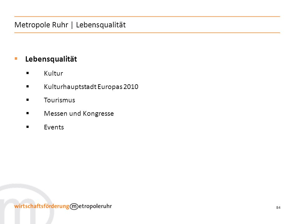 Metropole Ruhr | Lebensqualität