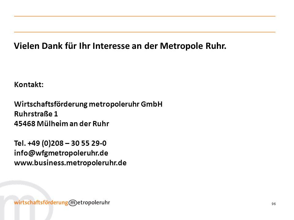 Vielen Dank für Ihr Interesse an der Metropole Ruhr.
