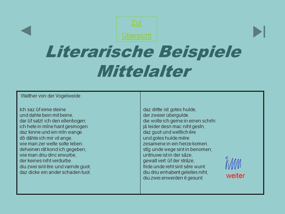 Literarische Beispiele Mittelalter