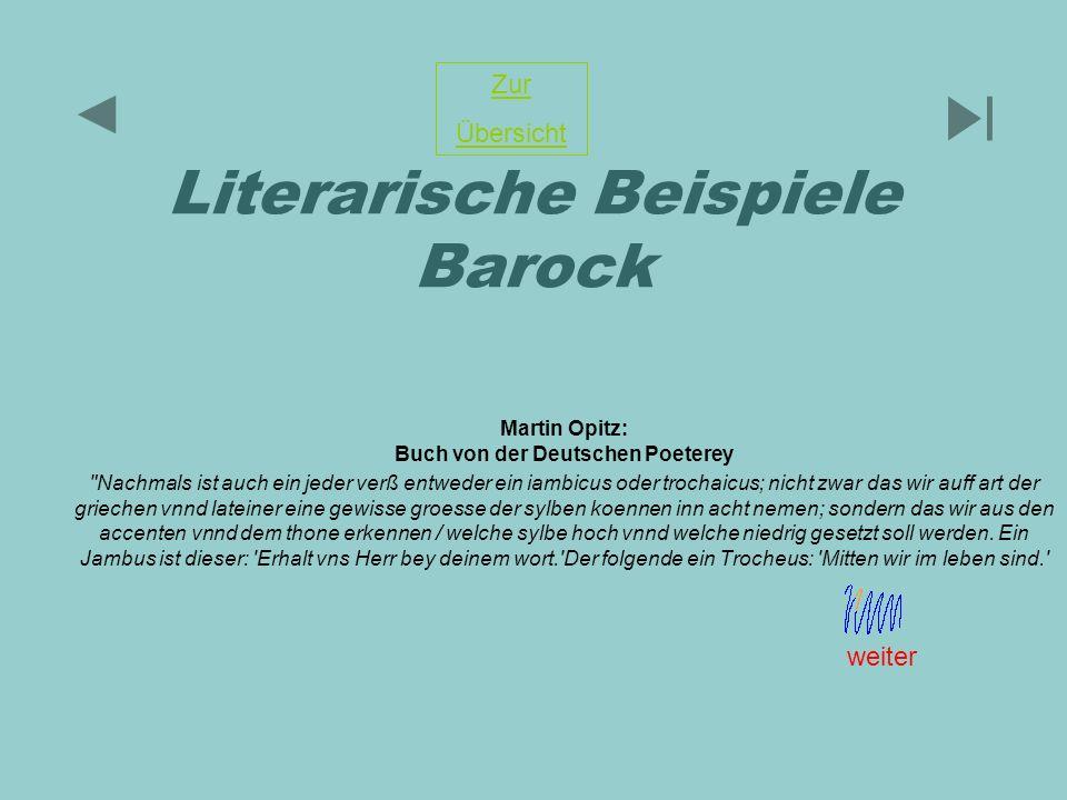 Literarische Beispiele Barock
