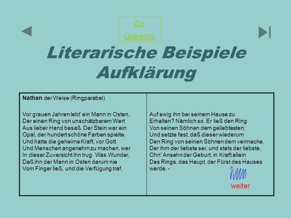 Literarische Beispiele Aufklärung