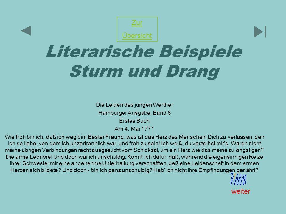 Literarische Beispiele Sturm und Drang