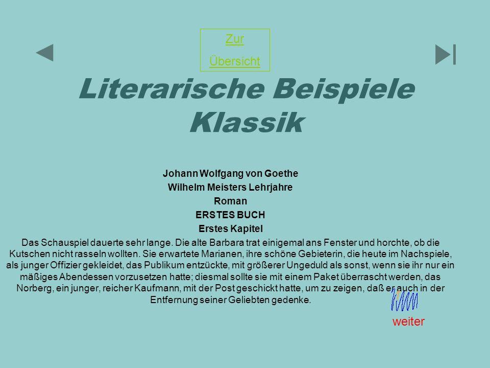 Literarische Beispiele Klassik