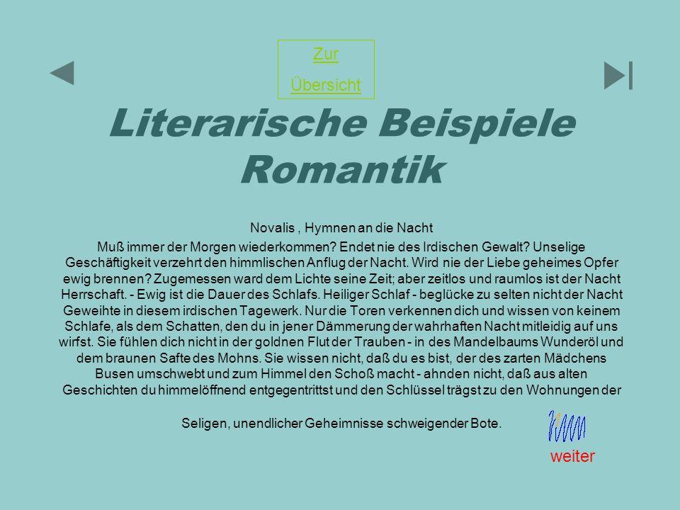 Literarische Beispiele Romantik