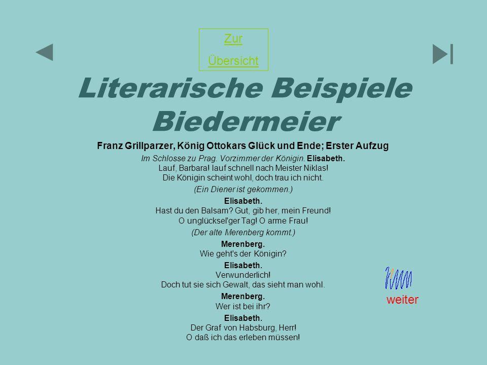 Literarische Beispiele Biedermeier
