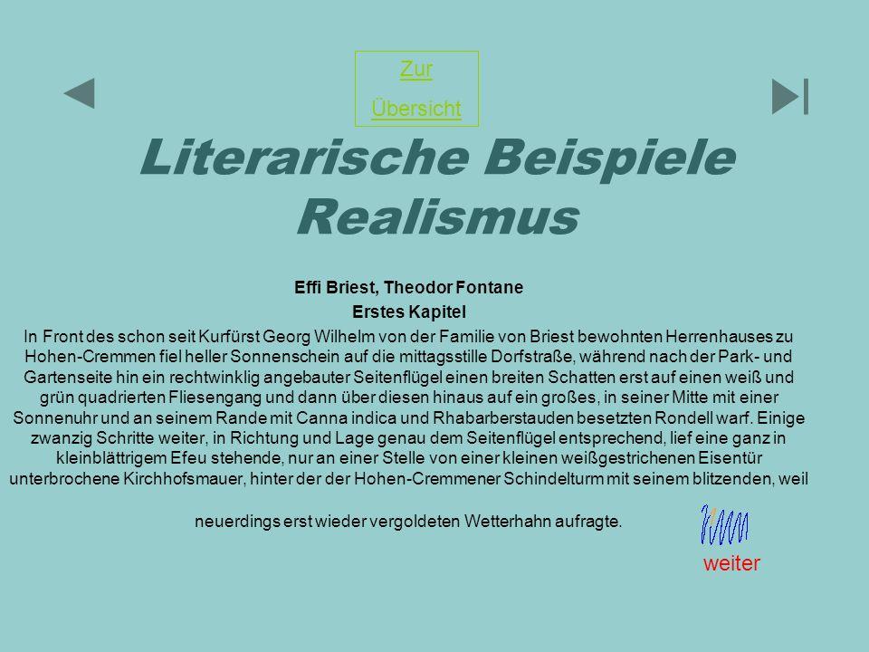 Literarische Beispiele Realismus