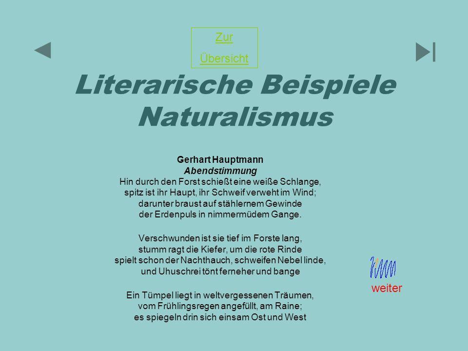 Literarische Beispiele Naturalismus