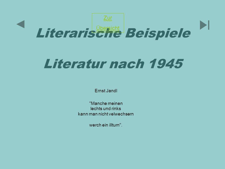Literarische Beispiele Literatur nach 1945