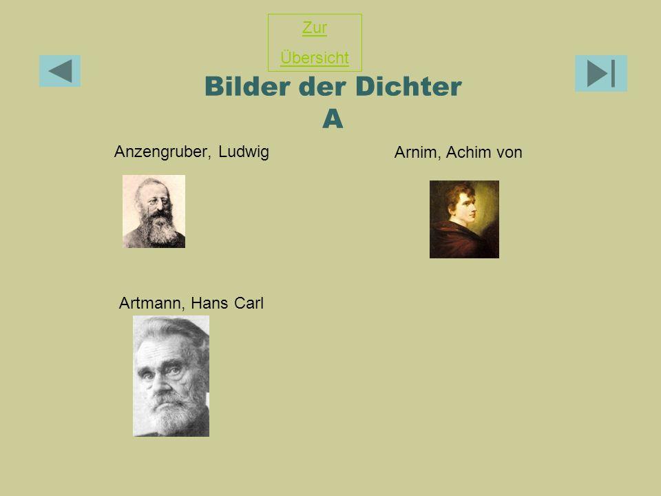 Bilder der Dichter A Zur Übersicht Anzengruber, Ludwig