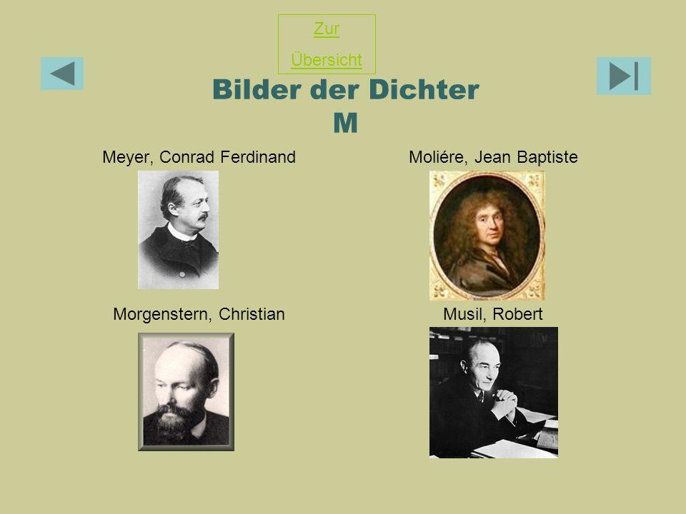 Bilder der Dichter M Zur Übersicht Meyer, Conrad Ferdinand