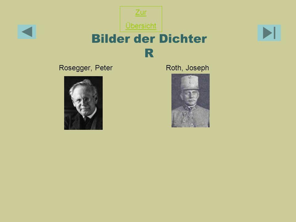 Zur Übersicht Bilder der Dichter R Rosegger, Peter Roth, Joseph