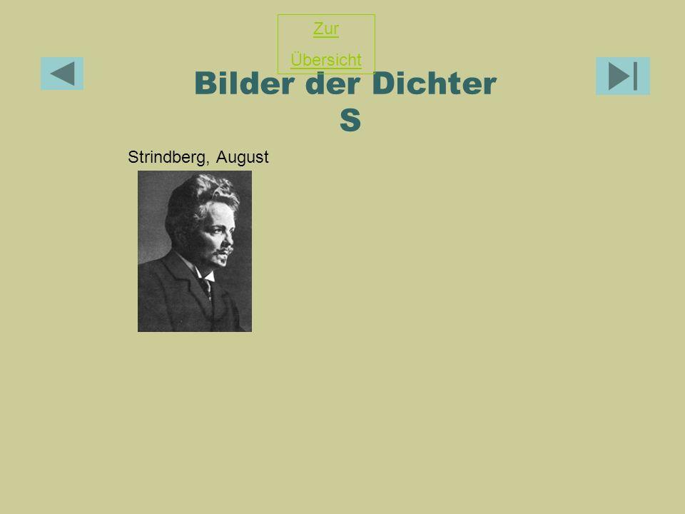 Zur Übersicht Bilder der Dichter S Strindberg, August