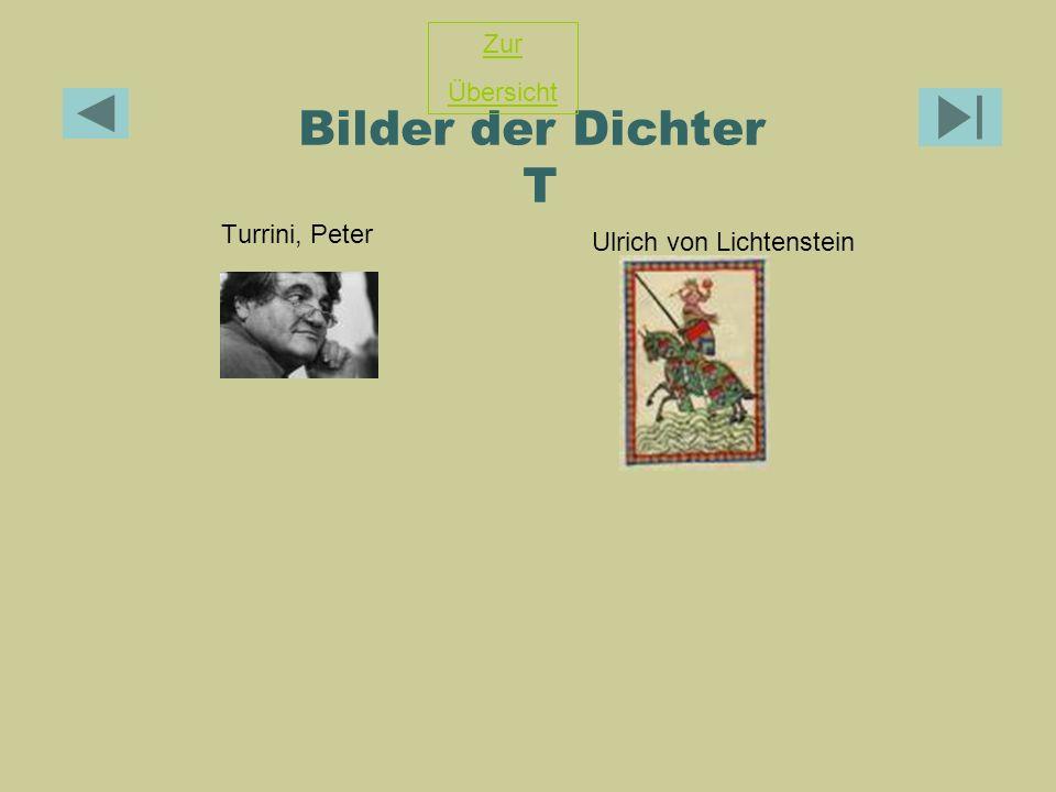 Bilder der Dichter T Zur Übersicht Turrini, Peter