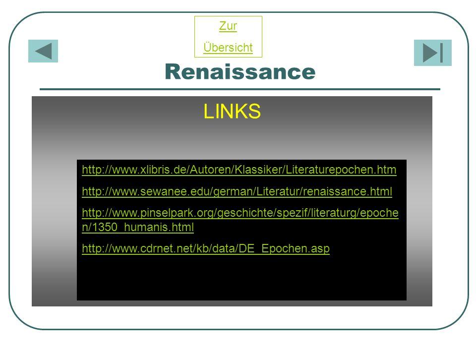 Renaissance LINKS Zur Übersicht