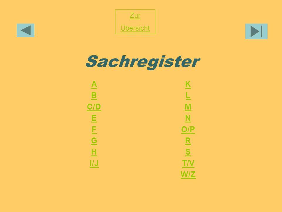 Zur Übersicht Sachregister A B C/D E F G H I/J K L M N O/P R S T/V W/Z