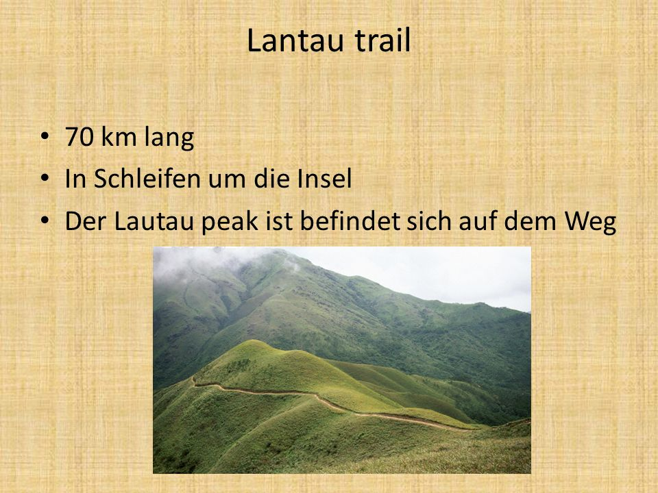 Lantau trail 70 km lang In Schleifen um die Insel