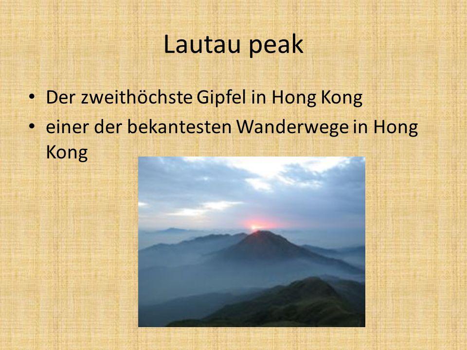 Lautau peak Der zweithöchste Gipfel in Hong Kong