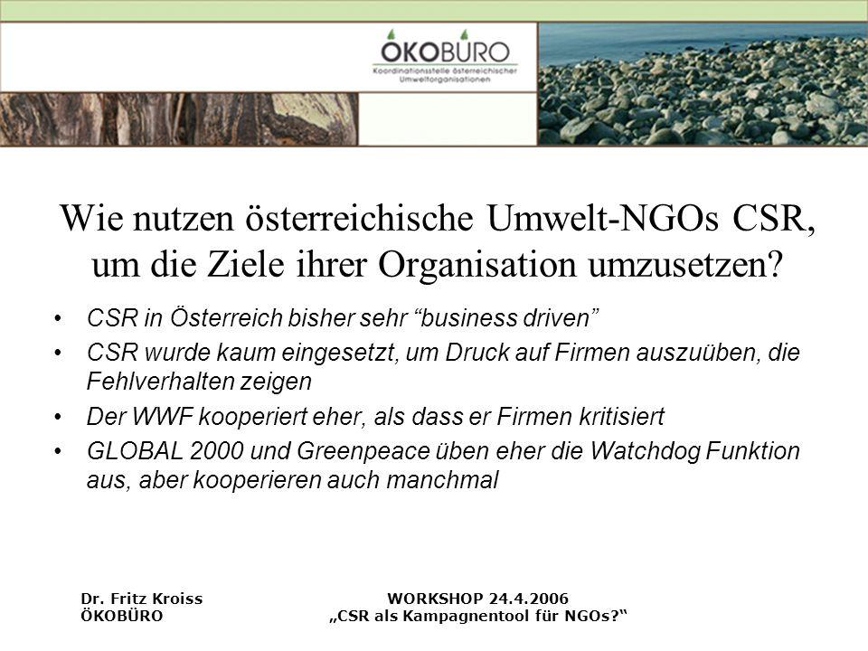 """""""CSR als Kampagnentool für NGOs"""